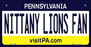 Nittany Lions Fan Wholesale Novelty Metal Bicycle Plate BP-12992