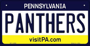 Panthers Wholesale Novelty Metal Bicycle Plate