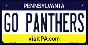 Go Panthers Wholesale Novelty Metal Bicycle Plate BP-12996