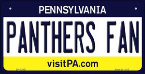 Panthers Fan Wholesale Novelty Metal Bicycle Plate BP-12997