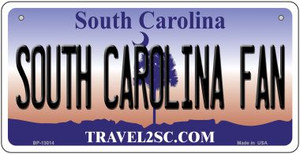 South Carolina Fan Wholesale Novelty Metal Bicycle Plate BP-13014