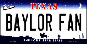 Baylor Fan Wholesale Novelty Metal Bicycle Plate BP-13034