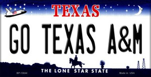 Go Texas A&M Wholesale Novelty Metal Bicycle Plate BP-13044