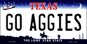 Go Aggies Wholesale Novelty Metal Bicycle Plate BP-13047