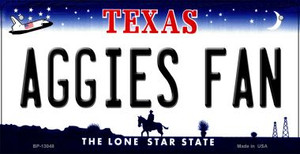 Aggies Fan Wholesale Novelty Metal Bicycle Plate BP-13048