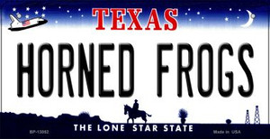 Horned Frogs Wholesale Novelty Metal Bicycle Plate BP-13052