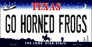 Go Horned Frogs Wholesale Novelty Metal Bicycle Plate BP-13053