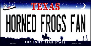 Horned Frogs Fan Wholesale Novelty Metal Bicycle Plate BP-13054