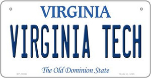 Virginia Tech Wholesale Novelty Metal Bicycle Plate BP-13084