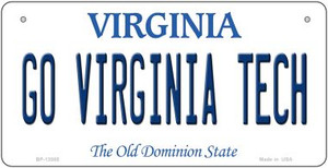 Go Virginia Tech Wholesale Novelty Metal Bicycle Plate BP-13085