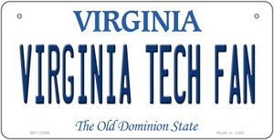 Virginia Tech Fan Wholesale Novelty Metal Bicycle Plate BP-13086