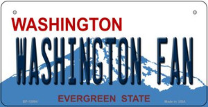 Washington Fan Wholesale Novelty Metal Bicycle Plate BP-13094