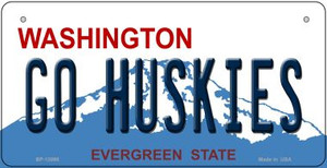 Go Huskies Wholesale Novelty Metal Bicycle Plate BP-13095
