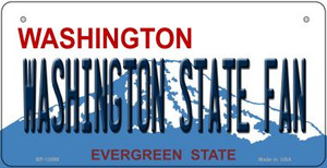 Washington State Fan Wholesale Novelty Metal Bicycle Plate BP-13099