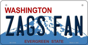 Zags Fan Wholesale Novelty Metal Bicycle Plate BP-13104