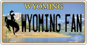 Wyoming Fan Wholesale Novelty Metal Bicycle Plate BP-13126