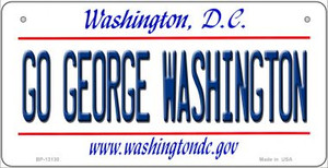 Go George Washington Wholesale Novelty Metal Bicycle Plate BP-13130