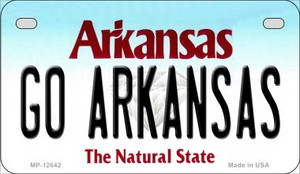 Go Arkansas Wholesale Novelty Metal Motorcycle Plate MP-12642
