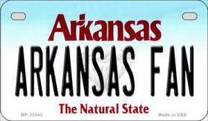 Arkansas Fan Wholesale Novelty Metal Motorcycle Plate MP-12643