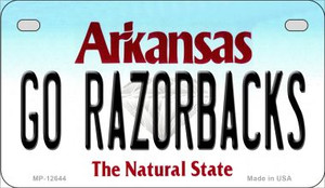 Go Razorbacks Wholesale Novelty Metal Motorcycle Plate MP-12644