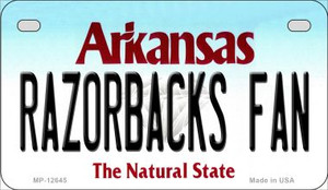 Razorbacks Fan Wholesale Novelty Metal Motorcycle Plate MP-12645