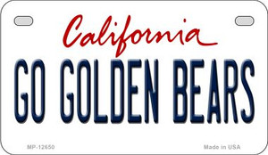 Go Golden Bears Wholesale Novelty Metal Motorcycle Plate MP-12650
