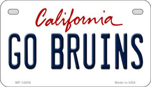 Go Bruins Wholesale Novelty Metal Motorcycle Plate MP-12656