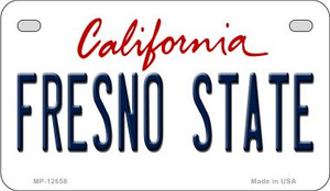 Fresno State Wholesale Novelty Metal Motorcycle Plate MP-12658