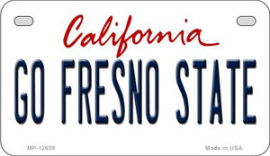 Go Fresno State Wholesale Novelty Metal Motorcycle Plate MP-12659