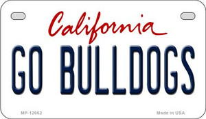 Go Bulldogs Wholesale Novelty Metal Motorcycle Plate MP-12662