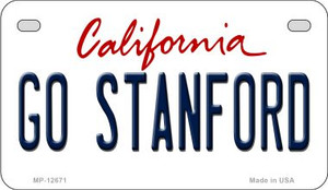 Go Stanford Wholesale Novelty Metal Motorcycle Plate MP-12671