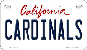 Cardinals Wholesale Novelty Metal Motorcycle Plate MP-12673