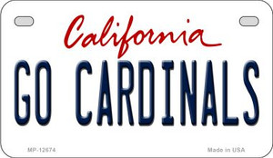 Go Cardinals Wholesale Novelty Metal Motorcycle Plate MP-12674
