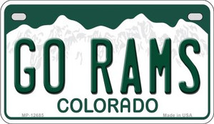 Go Rams Wholesale Novelty Metal Motorcycle Plate MP-12685