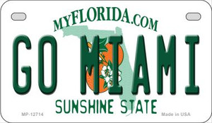 Go Miami Wholesale Novelty Metal Motorcycle Plate MP-12714