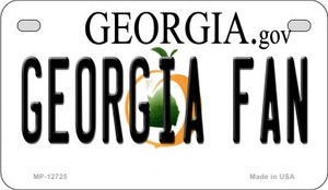 Georgia Fan Wholesale Novelty Metal Motorcycle Plate MP-12725