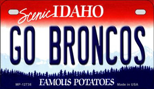 Go Broncos Wholesale Novelty Metal Motorcycle Plate MP-12738