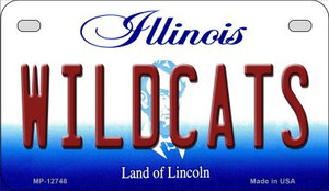 Wildcats Wholesale Novelty Metal Motorcycle Plate MP-12748
