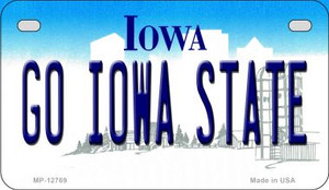 Go Iowa State Wholesale Novelty Metal Motorcycle Plate MP-12769