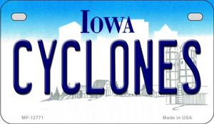 Cyclones Wholesale Novelty Metal Motorcycle Plate MP-12771