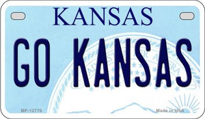 Go Kansas Wholesale Novelty Metal Motorcycle Plate MP-12776