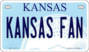 Kansas Fan Wholesale Novelty Metal Motorcycle Plate MP-12777