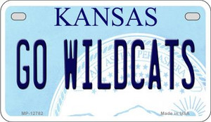Go Wildcats Wholesale Novelty Metal Motorcycle Plate MP-12782