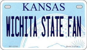 Wichita State Fan Wholesale Novelty Metal Motorcycle Plate MP-12785
