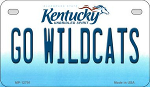 Go Wildcats Wholesale Novelty Metal Motorcycle Plate MP-12791