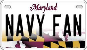 Navy Fan Wholesale Novelty Metal Motorcycle Plate MP-12810