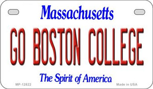 Go Boston College Wholesale Novelty Metal Motorcycle Plate MP-12822