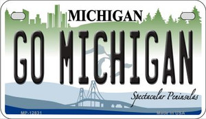 Go Michigan Wholesale Novelty Metal Motorcycle Plate MP-12831