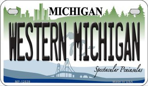 Western Michigan Wholesale Novelty Metal Motorcycle Plate MP-12839