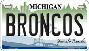 Broncos Wholesale Novelty Metal Motorcycle Plate MP-12842